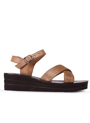 Deery Hakiki Deri Sandalet Taba